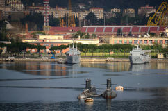 Подводные лодки в порте Стоковое Изображение