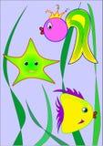 Подводные друзья иллюстрация штока