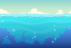 Подводный безшовный ландшафт Стоковая Фотография