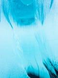 Подводный crevasse в толстом слое плавая льда Стоковое Фото
