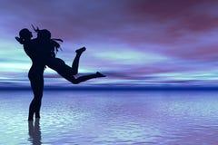 Под голубым небом Стоковая Фотография