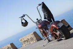 Подгонянный мотоцикл тяпки Стоковые Изображения
