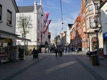Под городком Солнцем Lippstadt стоковая фотография rf
