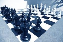 Подготавливайте для сражения шахмат Стоковая Фотография