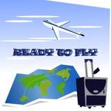 Подготавливайте для того чтобы лететь Стоковое Изображение