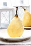 Подготавливать груши с шоколадом Стоковые Фотографии RF