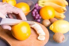 Подготавливать здоровую еду Стоковое фото RF