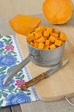 Подготавливать сырцовую тыкву для варить Стоковое Фото