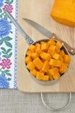 Подготавливать сырцовую тыкву для варить Стоковые Изображения