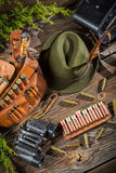 Подготавливать для охоты в коттедже forester Стоковое Фото