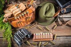 Подготавливать для охоты в коттедже forester Стоковое Изображение