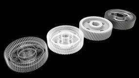 подготовка и печатание шестерни 3d Стоковые Изображения RF
