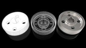 подготовка и печатание шестерни 3d Стоковое Изображение RF