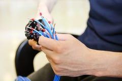 Подготовка кабеля Стоковое Изображение RF