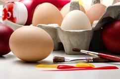Подготовка картины пасхального яйца Стоковое Изображение