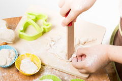 Подготовка ребенка выпечки Стоковая Фотография