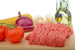 Подготовка bolognese спагетти Стоковые Изображения RF