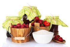 Подготовка ягод на зима Стоковое Фото