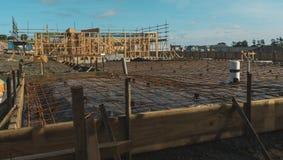Подготовка для concreting учреждения дома Стоковое Фото