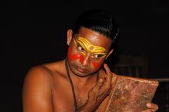 подготовка kathakali танцульки Стоковые Фотографии RF