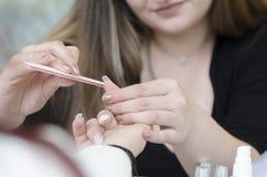 Подготовьте ногти для Acrylic и геля Стоковое Фото