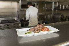 Подготовленная плита мяса Стоковое Изображение RF