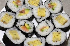 Подготовленные суши домодельные Стоковое Изображение