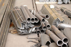 Подготовленный как элемент профилей металла Стоковое Фото