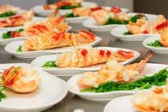 Подготовленный омар на плите Стоковые Фото