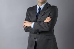 подготовляет положение пересеченное бизнесменом Стоковое Изображение RF