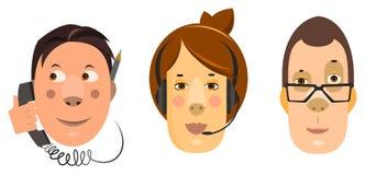 подготовляет работников женщины телефона офиса человека forground предпосылки бородатых пересеченных стоя говоря Стоковые Фото