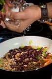 подготовлять еды шеф-повара Стоковая Фотография