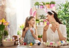 подготовлять семьи пасхи Стоковое Изображение