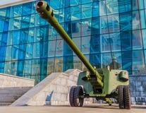 полевая пушка M1944 100 mm (BS-3) Стоковые Фотографии RF