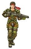 Полевой солдат Стоковая Фотография