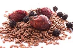 Полезные ягоды и семена Стоковое Фото