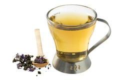 Полезный травяной чай от сухого заквашенного fireweed на белом backgroun Стоковое фото RF