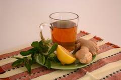 Полезный чай имбиря Стоковые Фото