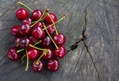 Поленики вишни на треснутом пне Стоковое Фото