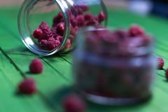 Поленики и ежевики ягод на деревянной предпосылке Стоковая Фотография RF