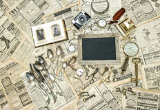 Подержанная продажа Античные товары от блошинного Стоковые Изображения RF