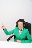 поддержка оператора шлемофона клиента женская Стоковые Фото