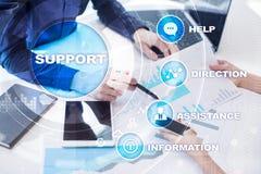поддержка техническая Помощь клиента Концепция дела и технологии Стоковые Изображения