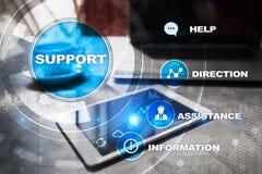 поддержка техническая Помощь клиента Концепция дела и технологии Стоковые Фотографии RF