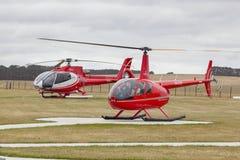 Полет вертолета 12 апостолов сценарный Стоковые Изображения RF