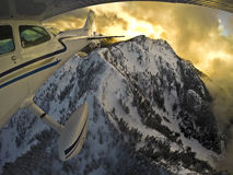 Полет горы стоковые фотографии rf