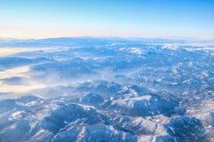 Полет к Мадейре над Испанией Стоковые Изображения RF
