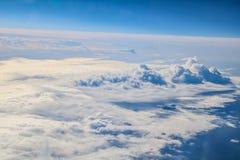 Полет к Мадейре над Испанией Стоковое Изображение