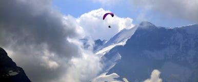 Полет над Альпами Стоковые Фото