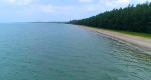 Полет над морем ОН назад Остров Kho Hhao Koh акции видеоматериалы